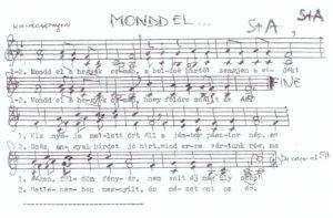 Mondd el a hegyek ormán Kiszler József átirat Karácsonyra