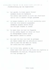 Ének Boldog Giselláról németül Passau