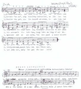 Ének Boldog Gizelláról- Kiszler József átirat