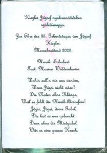 Kiszler József Születésnapja